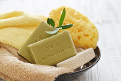 Greek olive soap Royalty Free Stock Photo
