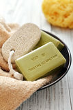 Greek olive soap Stock Image