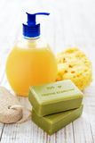 Greek olive soap Stock Images
