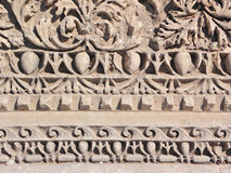Greek ornament. Detail from column in Myra Turkey Royalty Free Stock Photography