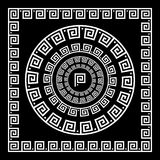 Greek Ornament. Circle ornament meander. Round frame, rosette of ancient elements. Greek national antique round pattern, vector. R Stock Images