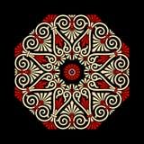 Greek Ornament Rosetta. EPS 10 file available Stock Image