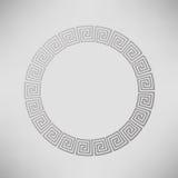 Greek Ornamental Circle Frame Stock Image