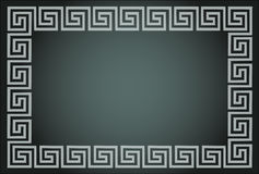 Greek ornamental frame Royalty Free Stock Photography