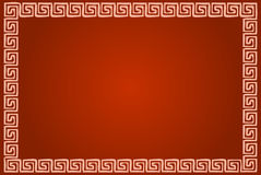 Greek ornamental frame in red Royalty Free Stock Photo