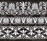 Greek ornaments. A set of some greek ornaments for borders, vectors Royalty Free Stock Photos