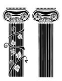 Greek ornaments. A set of some greek ornaments for borders, vectors Royalty Free Stock Photo