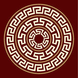 Greek ornaments ROUND. ROUND rosette WITH GREEK MOTIVE Royalty Free Stock Images