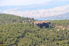 Historical Greek Orphanage in Buyukada Turkey Stock Images