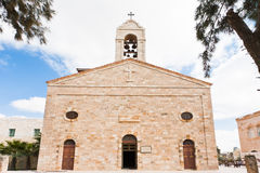 Greek Orthodox Basilica in Madaba. Greek Orthodox Basilica of Saint George in town Madaba, Jordan Stock Photography