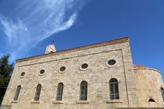 Greek Orthodox Basilica of Saint George in town Madaba, Jordan Royalty Free Stock Photography