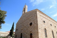 Greek Orthodox Basilica of Saint George in town Madaba, Jordan. Middle East Stock Image