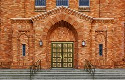 Greek Orthodox Brick Chruch Stock Image