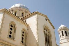 Greek orthodox cathedral ayia napa lemesos cyprus. Detail dome greek orthodox cathedral ayia napa agios church Limassol Lemesos Cyprus stock photos