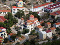 Greek orthodox cathedral, Megisti Island Stock Photo
