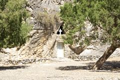 Greek Orthodox Cave Church Royalty Free Stock Images
