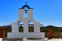 Greek orthodox chapel bells Royalty Free Stock Images
