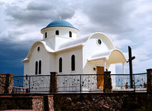 Greek orthodox chapel Stock Images