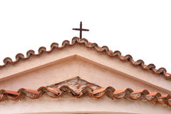 Greek-orthodox chapels rooftop Royalty Free Stock Photography