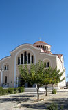 Greek orthodox church. A view of the entrance to a Greek orthodox church on a bright, cloudless day Stock Photography