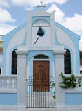 Greek Orthodox Church. The blue coloured Greek Orthodox church in Nassau town, the capital of The Bahamas Royalty Free Stock Photography