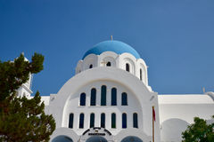 Greek Orthodox church on Aegina Island. Greece Stock Photo