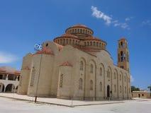 Greek orthodox church. Bizantine builidings in Paphos, Cyprus Royalty Free Stock Photos