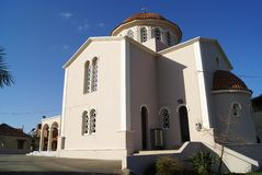Greek Orthodox church in Crete, Greece Stock Photos