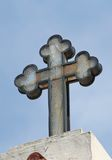 Greek Orthodox Church Cross. Captured in Samos,Greece royalty free stock image