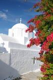 Greek orthodox church, Cyclades, Greece. Greek Orthodox church against blue sky background Royalty Free Stock Image