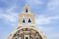 Greek orthodox church. Detail of front traditional greek orthodox church in Schinoussa island, Greece Stock Photo