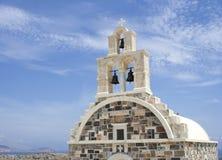 Greek orthodox church. Detail of traditional greek orthodox church in Schinoussa island, Greece Stock Photos