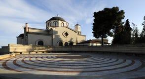 Greek orthodox church. Exterior view on Greek orthodox church on sunny day Stock Photography