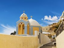 A Greek Orthodox Church in Fira on Santorini island. In Greece Royalty Free Stock Images