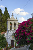 Greek orthodox church in Fodele with bellfry Royalty Free Stock Images