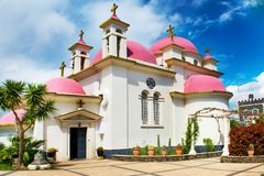 The Greek Orthodox Church of the Holy Apostles or Church of the Apostles church at the centre of the Greek Orthodox Monastery at royalty free stock image