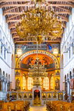Greek orthodox church interior Stock Photography