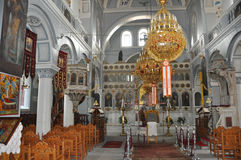 Greek orthodox church interior Royalty Free Stock Image