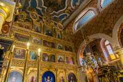 Greek Orthodox Church. Interior view of a Greek Orthodox church in Corfu, Greece Royalty Free Stock Images