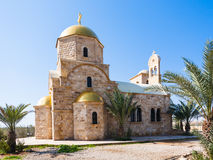 Greek Orthodox Church of John the Baptist. Newly built Greek Orthodox Church of John the Baptist near Baptism Site Bethany Beyond the Jordan Stock Image