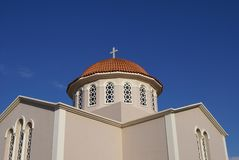 Greek Orthodox church, Kalives, Crete, Greece Stock Photo