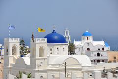 Greek orthodox church of karterados Royalty Free Stock Photography
