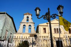 Greek Orthodox Church, Lefkada, Greece Stock Images