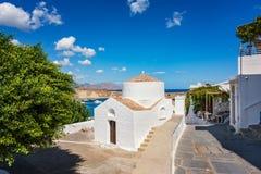 Greek orthodox church in Lindos Rhodes, Greece. Greek orthodox church in Lindos  Rhodes, Greece Royalty Free Stock Photos