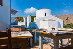 Greek orthodox church in Lindos Rhodes, Greece. Greek orthodox church in Lindos  Rhodes, Greece Stock Photography