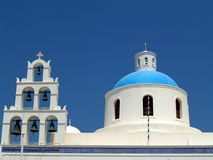 Greek Orthodox Church, Oia, Santorini Stock Images