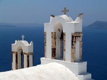 Greek Orthodox Church, Oia, Santorini Royalty Free Stock Photo