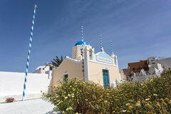 Greek Orthodox church in Oia, Santorini, The Cyclades, Greece. Royalty Free Stock Photography
