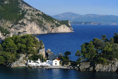 Greek orthodox church in Parga, Greece Stock Photo