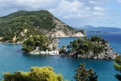 Greek orthodox church in Parga, Greece Stock Photography